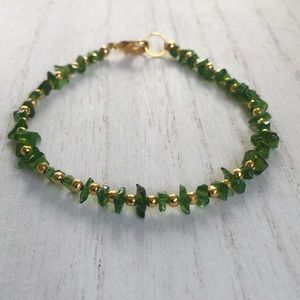 Jewelry - Chrome Diopside Gold bracelet
